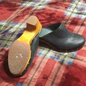 Australian Ugg sheepskin clogs.